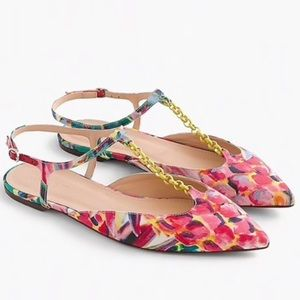 JCrew Pointed Toe Italian Abstract Ratti Print 7